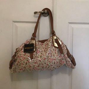 Floral sequins purse